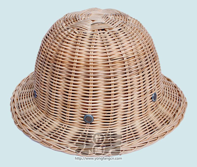 圆型藤编帽